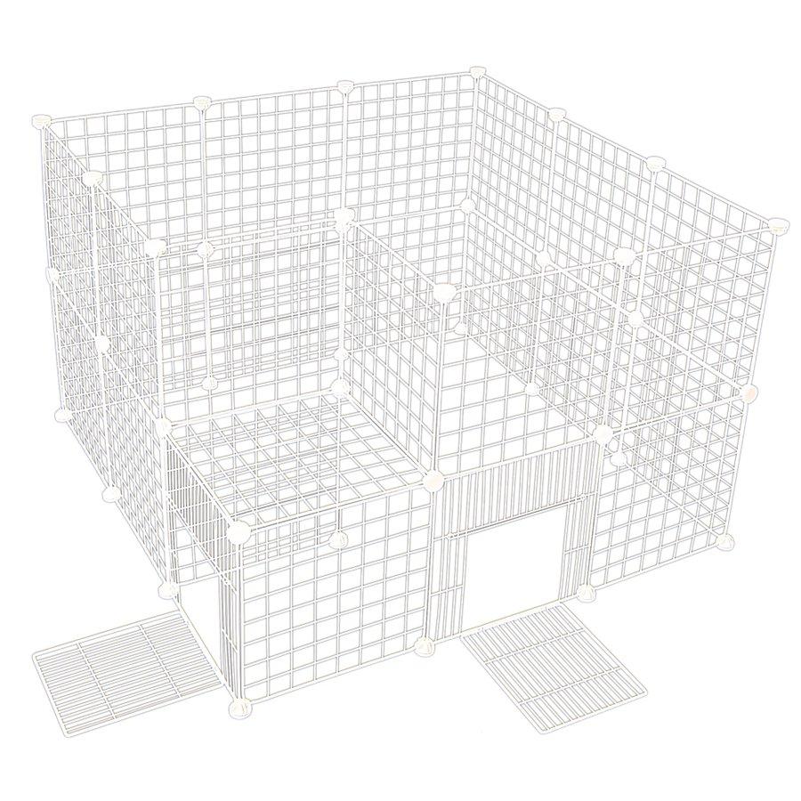 ペットフェンス ドア付 Mesh Fence 35cm×35cm ホワイト