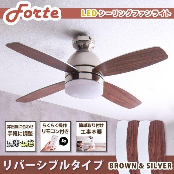 シーリングファンライト Forte (フォルテ)BR